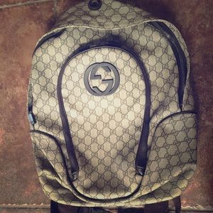 Gently used Gucci Backpack